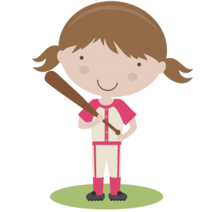 Girl Baseball Player SVG scrapbook title baseball svg title baseball svg cut files baseball title svg cut files