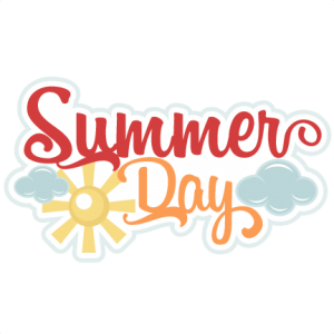 Summer  Day SVG scrapbook title summer svg cut files summer svg scrapbooking title scal files