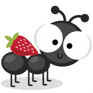 Ant With Strawberry SVG cutting files ant svg cuts ant scal files cutting files for cricut free svgs