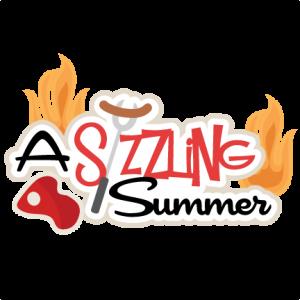 A Sizzling Summer SVG scrapbook title summer svg cut files summer svg cuts cute svg files for cricut