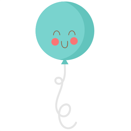 Cute birthday balloon svg cutting files birthday svg cut file free