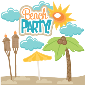 Beach Party SVG scrapbook title SVG cut file free svg cuts summer svgs beach svg file free svg cuts