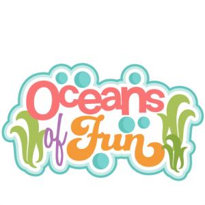Oceans of Fun Title  SVG scrapbook title beach svg cut file ocean svg cut file cute svg cuts