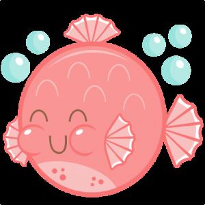 Cute Puffer Fish SVG cutting file free svg cuts cute svg cut files for cricut cute cut files for scal scut free files