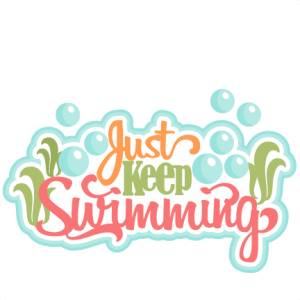 Just Keep Swimming SVG scrapbook title ocean svg cut file swimming svg cut files cute cut files for cricut