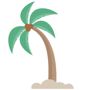 Leaning Palm Tree SVG cut files for scrapbooking beach svg cut file cute svg cuts for cricut