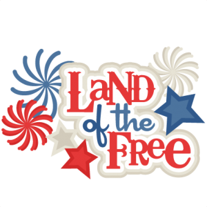 Land of the Free SVG scrapbook title 4th of july svg cut files independence day cut files for scrapbooking