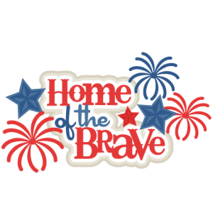 Home of the Free SVG scrapbook title 4th of july svg cut files independence day cut files for scrapbooking