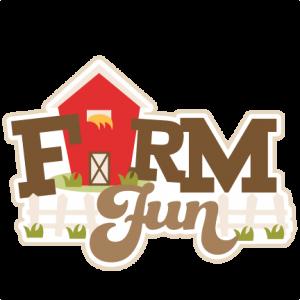 Farm Fun Title SVG cut files farm animals svg cutting files for scrapbooking farm cut files for cricut cute svg cuts
