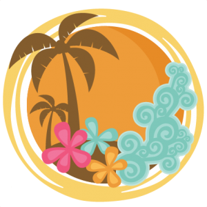 Tropical Sunset SVG cutting files for scrapbooking veach svg cut files vacation svg cut files for cricut