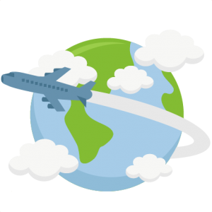 Airplane Flying Around World SVG cutting file earth svg cut file for cricut vacation svg cut file cute cut files