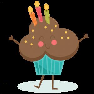 Happy Birthday Cupcake SVG scrapbook birthday svg cut files birthday svg files free svgs free svg cuts