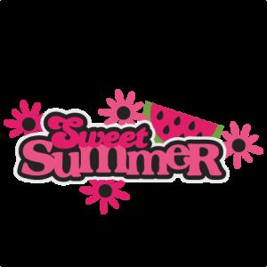 Sweet Summer SVG scrapbook title cutting files summer svg cut files watermelon svg cuts cute svg cut files for cricut