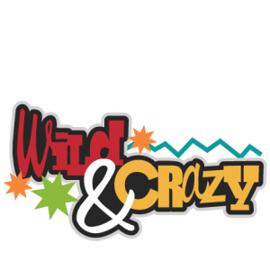 Wild & Crazy SVG scrapbook title cute svg cut files cute svg cuts free svgs for cricut
