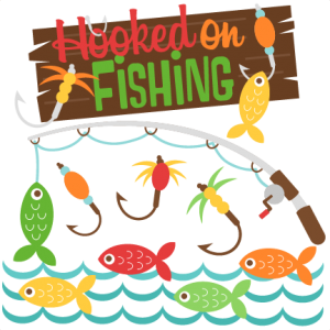 Hooked on Fishing SVG cutting files for scrapbooking fishing svg cut files for cricut cute svg cut files