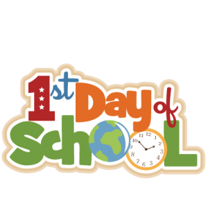 1st Day of School scrapbook title SVG cutting files school svg cut files school cut files for scrapbooking free svg cuts