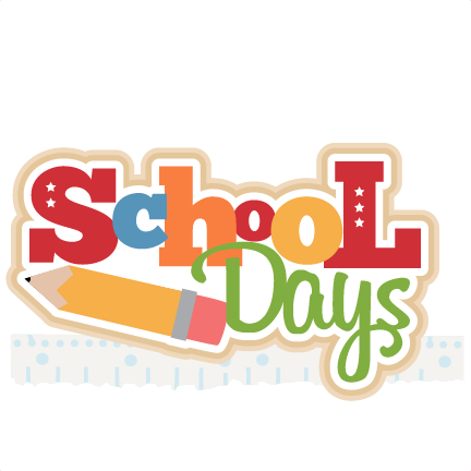 school days title svg cutting file for scrapbooking free