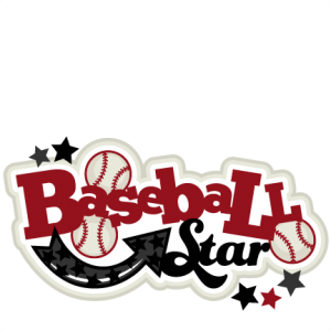 Baseball Star SVG scrapbook title baseball svg title baseball svg cut files baseball title svg cut files
