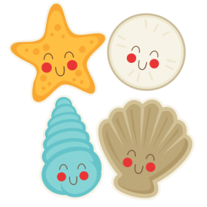 Cute Seasells  SVG cut file free svg cuts summer svgs beach svg file free svg cuts