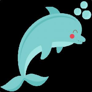 Cute Dolphin svg cut file for cricuts  SVG scrapbook title beach svg cut file ocean svg cut file cute svg cuts