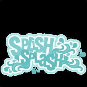 Splish Splash SVG scrapbook title ocean svg cut files for cricuts cute cut files cute svgs free svg cuts