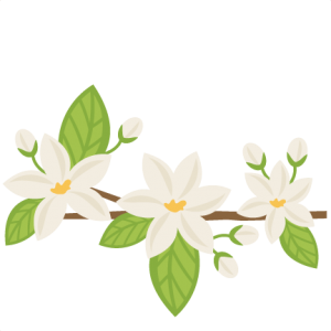 Orange Blossoms SVG cutting files flower svg cut file flower svgs cute svg cut files for cricut cute cut files free svgs