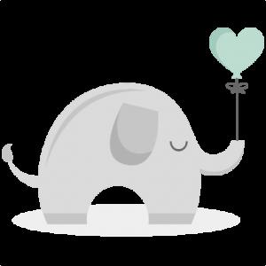 Baby Elepahnt SVG cutting files elephant svg cut file baby elephant svg file for scrapbooking