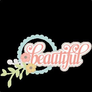 Beautiful SVG scrapbook title flower svg cuts cute svg files cute svg cut files for cricut