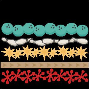 Bowling Borders SVG cutting files bowling svg cut files for cricut cute svg cuts cute svg cut files bowling svgs
