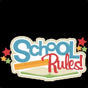 School Rules! SVG scrapbook title school svg cut files cricut cut files for scrapbooking cute svg cuts free svgs