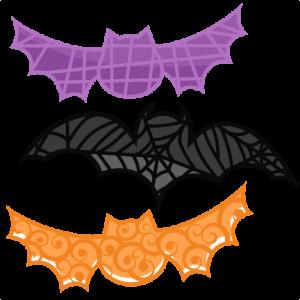 Bat Set SVG cutting files bat svg cut file halloween cute files for cricut cute cut files free svgs