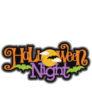 Halloween Night SVG scrapbook title SVG cutting files bat svg cut file halloween cute files for cricut cute cut files free svgs