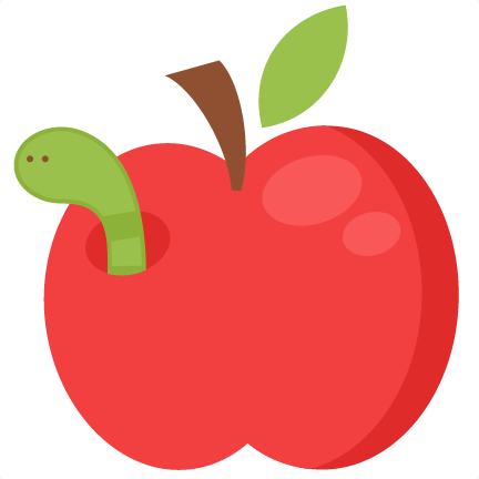 Worm In Apple SVG cutting file for scrapbooking free svg ...
