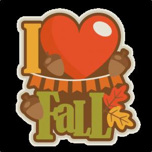 I Love Fall  SVG scrapbook title SVG cutting files for scrapbooking fall svg cut files for cricut cute cut files free svg cuts