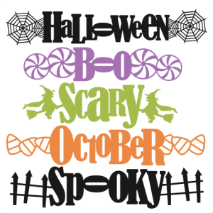 Halloween Word Titles SVG cutting file for scrapbooking autumn svg cut files free svgs cute cut files for cricut