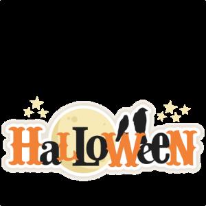 Halloween Title SVG scrapbook title SVG cutting files crow svg cut file halloween cute files for cricut cute cut files free svgs