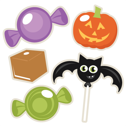 Halloween Candy Set SVG scrapbook title SVG cutting files ...