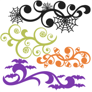 Halloween Flourish Set SVG scrapbook title SVG cutting files crow svg cut file halloween cute files for cricut cute cut files free svgs