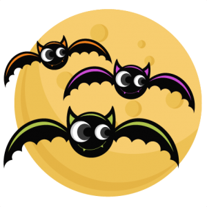 Bats With Moon SVG cutting files bat svg cut file halloween cute files for cricut cute cut files free svgs