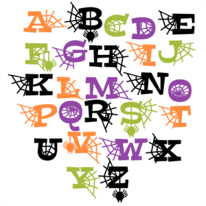 Halloween Letters Set SVG scrapbook title SVG cutting files crow svg cut file halloween cute files for cricut cute cut files free svgs