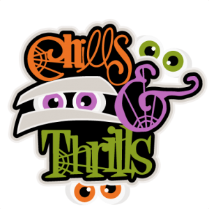Chills & Thrills  SVG scrapbook title SVG cutting files crow svg cut file halloween cute files for cricut cute cut files free svgs