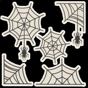 Spiderweb Set SVG scrapbook title SVG cutting files crow svg cut file halloween cute files for cricut cute cut files free svgs