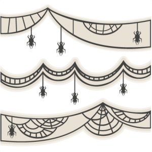 Spider Web Banner Set SVG scrapbook title SVG cutting files crow svg cut file halloween cute files for cricut cute cut files free svgs