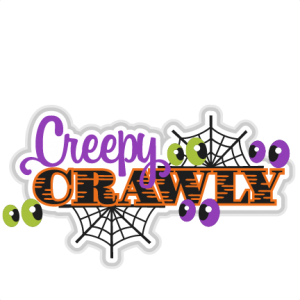 Creepy Crawly SVG scrapbook title halloween svg cut files for cricut cute cut files free svgs free svg cuts
