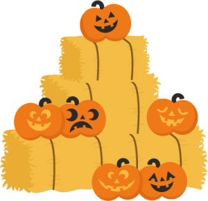 Jack-O-Lanterns on Hay Bales SVG cutting files pumpkin svg cuts cute svg cut files cute cut files for cricut free svgs