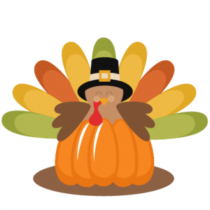 Turkey in Pumpkin SVG cutting file thanksgiving svg cuts cute clip art clipart turkey cut file for scrapbooking