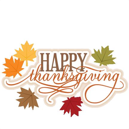 Happy Thanksgiving SVG scrapbook title thanksgiving svg ...