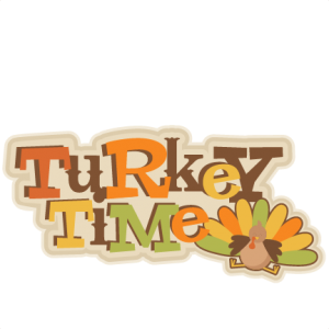 Turkey Day SVG scrapbook title turkey svg cut file for scrapbooking cute thanksgiving cut files for cricut