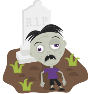 Zombie in Cemetery SVG cutting files for scrapbooking zombie svg cut file zombie cut file halloween svgs