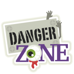 Danger Zone title SVG cutting files halloween svg cuts halloween scal files cutting files for cricut free svgs